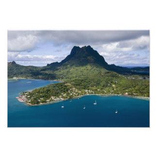 Franska Polynesia, Bora Bora. Antennen beskådar av Fototryck