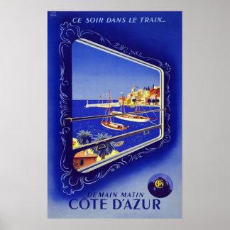 Franska Riviera Cote d'Azur Poster