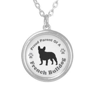 Franskt bulldogghalsband silverpläterat halsband