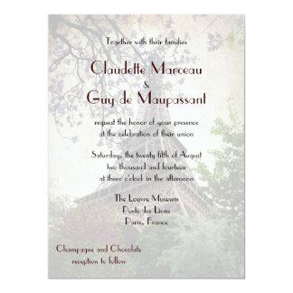Franskt gifta sig Eiffel torntema 16,5 X 22,2 Cm Inbjudningskort