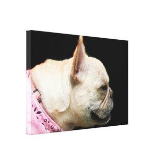 Franskt tryck för bulldoggkanfaskonst