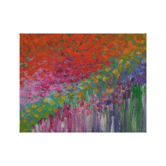 Franskträdgård - akryl på kanfas canvastryck