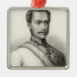 Franz Joseph mig, kejsare av Österrike 2 Julgransprydnad Metall