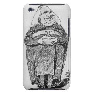 Franz Liszt (1811-86) som abboten, karikatyr från iPod Touch Hud