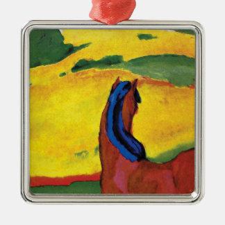 Franz Marc - häst i en landskapmålning Julgransprydnad Metall