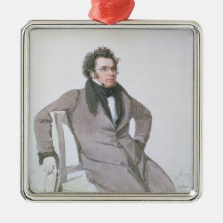 Franz Schubert, 1825 Julgransprydnad Metall