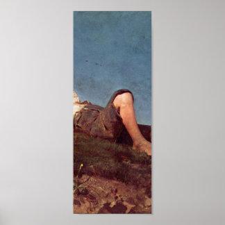 Franz von Lenbach - en herdepojke Poster