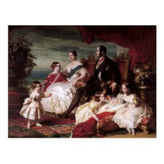 Franz Xaver Winterhalter- den kungliga familjen i Vykort