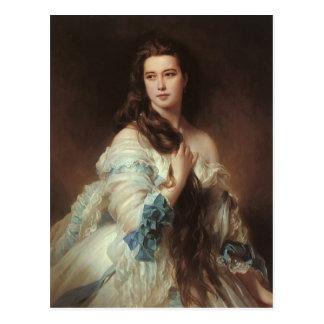 Franz Xaver Winterhalter-Porträtt av madamen Vykort