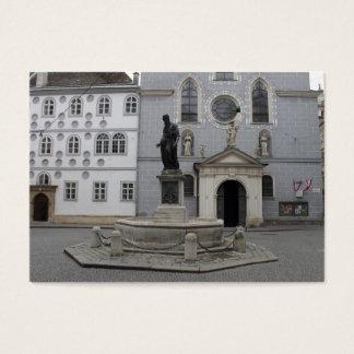 Franziskanerplatz Wien Österrike Visitkort