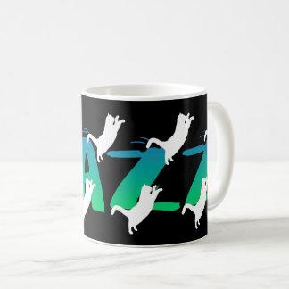 FRAZZ! Dansa den svart kattmuggen Kaffemugg