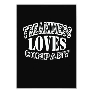 Freakiness Älska Företag - välj din bakgrund 12,7 X 17,8 Cm Inbjudningskort