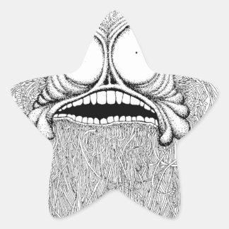 Freaky Herr är en bizzareillustration Stjärnformat Klistermärke