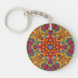 Freaky Tiki akryl Keychains, 6 stilar Dubbelsidigt Rund Akryl Nyckelring