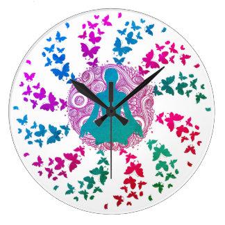 fred för energi för yogameditationrealitet av stor klocka