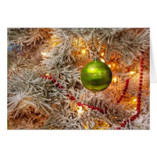 Fred, glädje och magin av julkortet hälsningskort