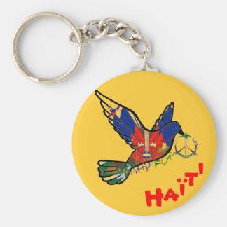 FRED I den HAITI duvan Keychain Rund Nyckelring