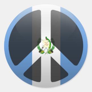 Fred i Guatemala Runt Klistermärke