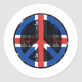 Fred i island runt klistermärke