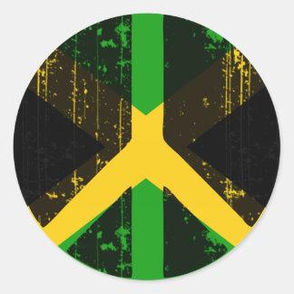 Fred i Jamaica Runt Klistermärke