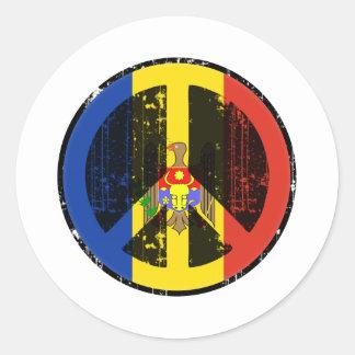 Fred i Moldavien Runt Klistermärke