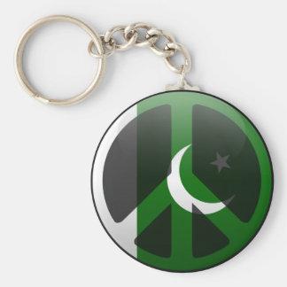 Fred i Pakistan Rund Nyckelring