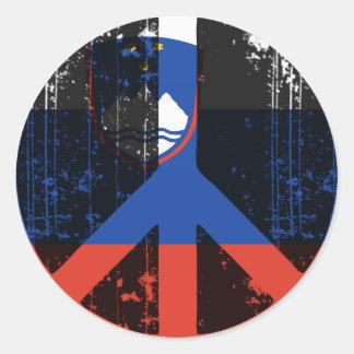 Fred i Slovenien Rund Klistermärke