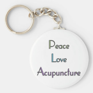 Fred kärlek, akupunktur rund nyckelring