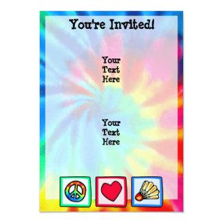 Fred kärlek, Badminton 12,7 X 17,8 Cm Inbjudningskort