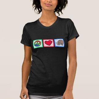 Fred kärlek, bältdjur tee shirts