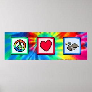Fred kärlek, duckar affisch
