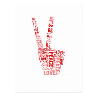 Fred & kärlek - ge fred en riskera vykort