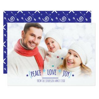 Fred, kärlek & glädje, Boho fotokort 12,7 X 17,8 Cm Inbjudningskort