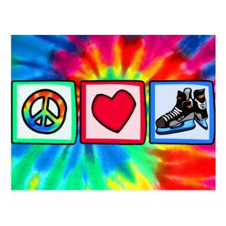Fred kärlek, hockey vykort