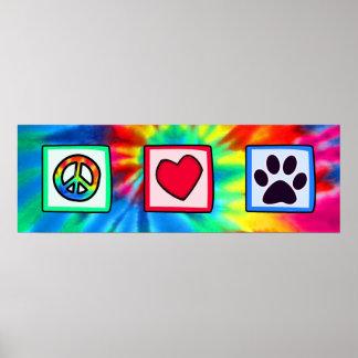 Fred kärlek, hund; Pawprint Poster