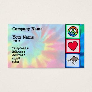 Fred kärlek, kängurur visitkort