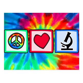 Fred kärlek, mikroskop vykort