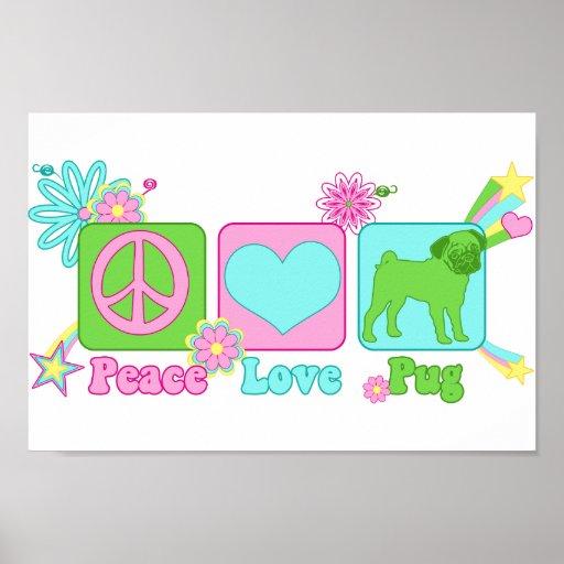 Fred - kärlek - mops posters