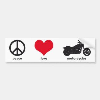 Fred •, Kärlek •, Motorcyklar Bildekal
