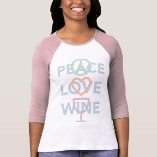 Fred, kärlek och vin t-shirt