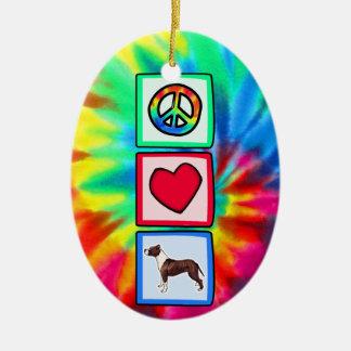 Fred kärlek, Pitbulls Julgransprydnad Keramik