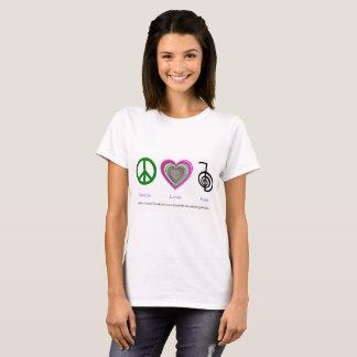 Fred-Kärlek-Reiki kvinna skjorta T-shirt