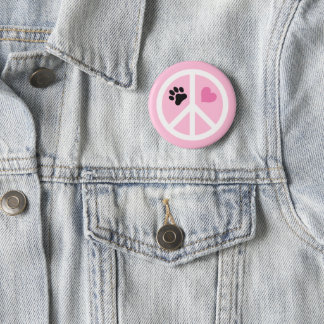 Fred, kärlek & tassar standard knapp rund 5.7 cm
