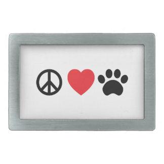 Fred kärlek, tassbälte spänner fast