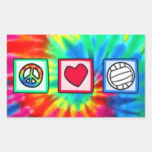 Fred kärlek, volleyboll rektangelformat klistermärke