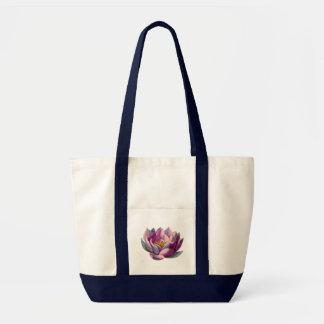 Fred l härlig rosa lotusblomma blommar/näckrosen tygkasse