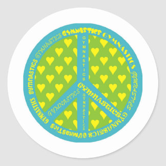 Fred med gymnastik i ram runt klistermärke