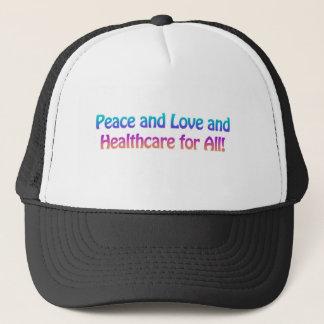 Fred och kärlek och sjukvård för alla keps
