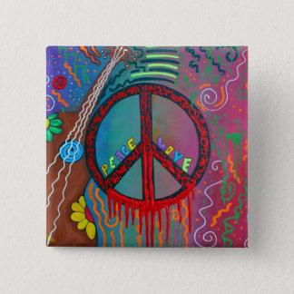 Fred och kärlek standard kanpp fyrkantig 5.1 cm