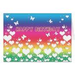Fred- och kärlekfödelsedagkort hälsnings kort